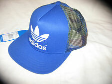 NEW Adidas originals TRUCKER FB ST Cap Camo Baseball Blue Hat OSFM AB3966