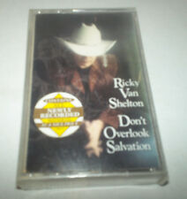 Don't Overlook Salvation Cassette by Ricky Van Shelton - 1992 Columbia, Gospel