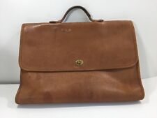 AUTH  COACH BRIEFCASE LAPTOP LEATHER BAG PURSE MESSENGER BOOKBAG