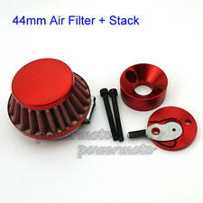 Red Air Filter Adapter Vstack Stack For 23 33 43 49cc Goped Stand Up Gas Scooter