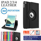 New iPad4 iPad3 iPad2 Smart Leather 360° Rotate Cover Case+Stylus+Screen Film