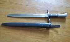 ONE SWISS ARMY SCHMIDT RUBIN K31 BAYONET & SHEATH