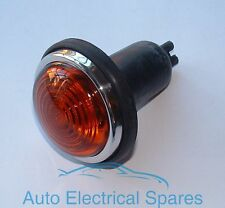 Lucas type L488 indicator light / lamp AMBER GLASS COMPLETE