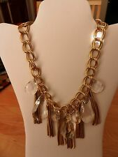 R.J. Graziano Statement Chain Link Tassle and Pendant Necklace  MSRP $65