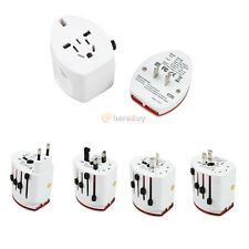 New World Travel Universal Plug Power Outlet Adapter Charger w/ 2 USB Ports US