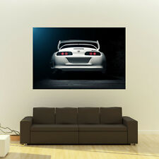 Poster of Toyota TT Supra MKIV 2JZ-GTE JZA80 Giant Work Wheels Huge Print 54x36