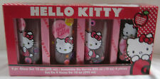 Hello Kitty by Sanrio 4 Four piece Glass Cup Set NEW 10 oz