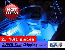 Beautiful BLUE boat light kit - - 2pcs / 16ft. each - - LED's --- 32ft. TOTAL
