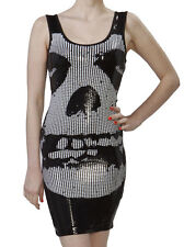 NWT Iron Fist Juniors Womens Misfits Sequin Tank Dress Crimson Ghost Medium New