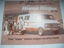 ✪altes original Prospekt WINNIE WAGON Winnebago Mobil englisches Prospekt  1974