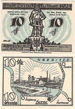 Germany 10 Pfennig 1921 Notgeld Herne AU-UNC Banknote