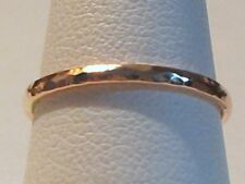 Solid 14k Rose Gold 1.5mm Stacking Ring,Thin Ring, Knuckle Ring, Midi Ring Sz 4+
