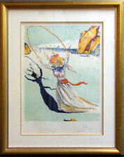 "Salvador Dali ""Transcendent Passage"" Japon paper Hand Signed with custom frame"