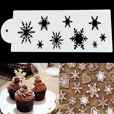 Snowflake Lace Cake Cookie Fondant Side Baking Stencil Wedding Decorating Tool
