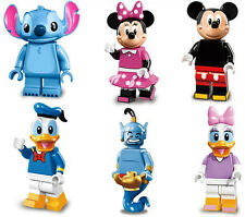 6pcs Disney Donald Duck Mickey Mouse Minifigures ABS Building Bricks Toy Set