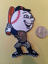 """New York NY Mets Mr. Met vintage iron on embroidered logo patch 4"""" x  2"""" AWESOME"""