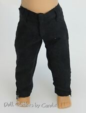 "Black Microfiber Jeans  - Pants fit 18"" American Girl  Dolls - Clothes"