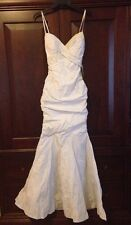 "Nicole Bakti 5946 White Wedding Pageant ""Sweet 16"" Prom Debutante Dress Nwt Xxs"
