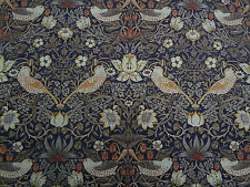 William Morris & Co Curtain Fabric  'Strawberry Thief' 3.3 METRES Grape/Gold