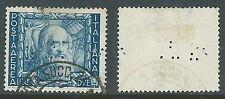 1938 REGNO POSTA AEREA USATO IMPERO 2 LIRE PERFIN TP - P41-3