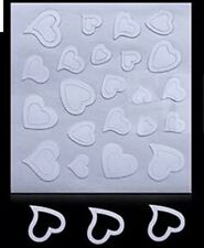 1 Sheets Nail Art French Edge Tip Guides heart shape Manicure sticker