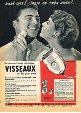 PUBLICITE ADVERTISING 114  1954  VISSEAUX  rasoirs éléctrique