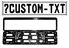 New Custom European License Plate (Custom) & Mounting Frame