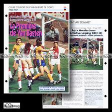#028.03 Le Match AJAX AMSTERDAM-LOKOMOTIVE LEIPZIG 13.05.1987 Fiche Football