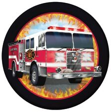 Fire Truck Dinner Plates (8) - FIRE WATCH Themed Birthday Party Supplies