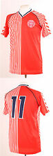 DENMARK RETRO 1986 WORLD CUP LAUDRUP 11 FOOTBALL SHIRT XXL RED