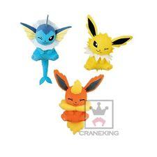 Pokemon XY&Z Relaxation time plush mascot set of 3 Vaporeon Jolteon Flareon NEW