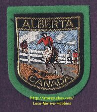 LMH PATCH Woven Badge  ALBERTA  Horse Riding Bronco Busting Rodeo CANADA  Cowboy