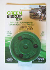 Green Biscuit Snipe Training Puck! Packaged, Shooting Passing Stickhandling Aid