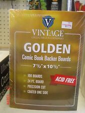 1000 ULTRA PRO GOLDEN COMIC BAGS AND 1000 GOLDEN BACKERS FOR COMICS! ACID FREE!