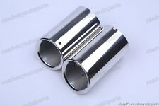 2Pcs Car Stainless mufflers exhaust pipe muffler Transition for Audi A3 muffler