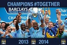 Manchester City Premier Winners 2013 - 2014 - Maxi Poster 61cmx91.5cm (new)