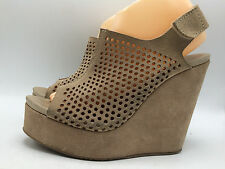 6C6 Pedro Garcia Sonya Perforated Platforms Wedges Sandals Women Shoes Sz 8 $550