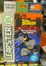 Leapster Batman Multiply Divide and Conquer 3rd 4th grade Math SEALED