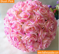 Blush Pink Rose Flower Ball Wedding decoratin Ball Kissing Ball 9-10 Inches