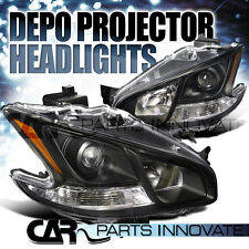 For 2009-2014 Nissan Maxima S SV Black Projector Headlights DEPO