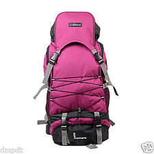 Durable Pink & Grey Color Rucksack Backpack Bag (Large, 23 Inches)