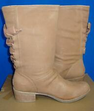 UGG Australia CARY Putty Leather Corset BOW at Back Boots Size US 12 NIB 1004872