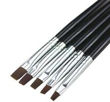 Hot! 5pcs Acrylic UV Gel Nail Art False Tips Drawing Painting Brush Pen Set KEUK
