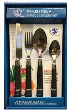 24 PIECE STAINLESS STEEL CUTLERY SET KNIVES FORKS SPOONS TEASPOONS IN GIFT BOX