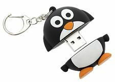 MY DOODLES CHARACTER 8GB USB MEMORY STICK FLASH PEN DRIVE & KEYCHAIN - PENGUIN