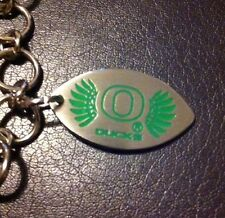 Nwot Oregon Ducks Stainless Steel Womens 7.5 Inch Bracelet With Football Charm