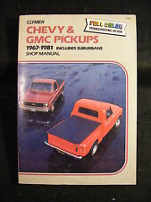 Clymer Chevy & GMC Pickups 1967-1981 Includes Suburbans Manual (Softcover, 1982)