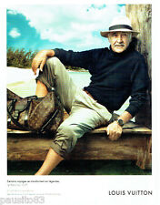 PUBLICITE ADVERTISING  016  2009  Louis Vuitton bagages Sean Connery aux BAHAMAS