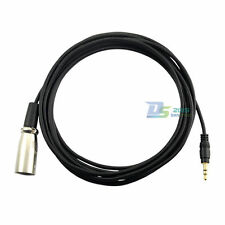 "TRS Stereo 3.5mm 1/8"" Male to XLR 3-Pin Male Jack Converter Audio Wire Lead 10FT"