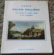 CATALOGUE VENTE ENCHERES 1965 PARIS PALAIS GALLIERA Tableaux dessins pastels ...